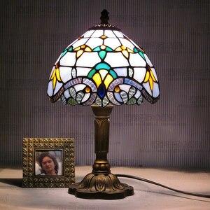 Image 4 - Artpad lampe de bureau, Design européen Vintage, style bohème, ac 110/LED V, décoration de chevet, chambre à coucher, mosaïque, verre ou mosaïque, ac 220V