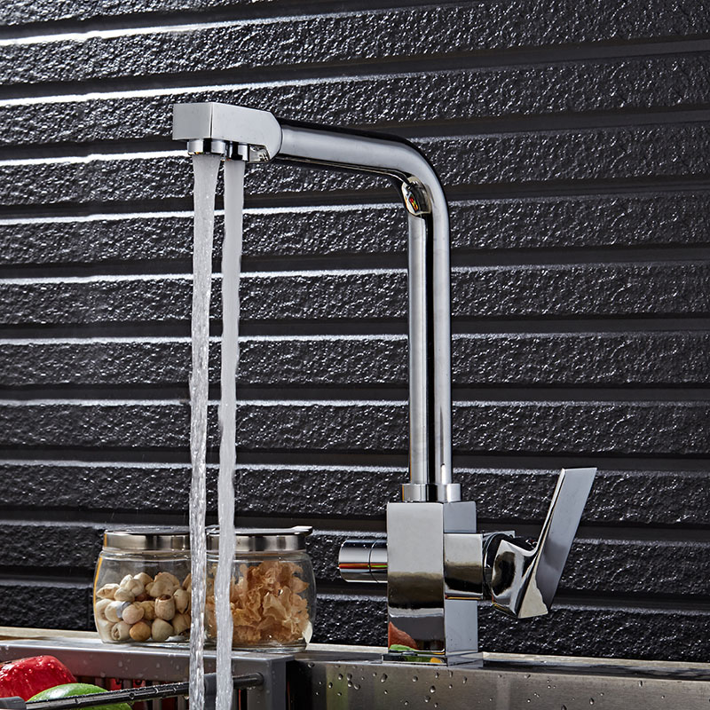 Free shipping Luxury filter kitchen faucet with deck mounted kitchen sink faucet of dual handle filter kitchen sink water faucet kitchen as resin faucet filter transparent blue