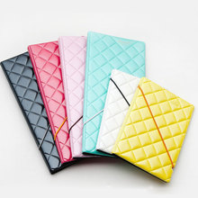OKOKC Leather Diamond Quilted Passport Holder Passport Cover Documents Bag Travel Card