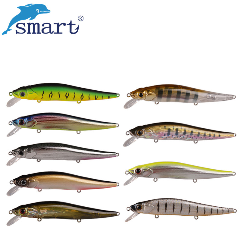 2017 Smart Minnow Bait 110mm/13.7g Fishing Lures China Floating 1.0m Fly Fishing Iscas Artificiais Para Pesca Hard Bait Wobbler wldslure 1pc 54g minnow sea fishing crankbait bass hard bait tuna lures wobbler trolling lure treble hook