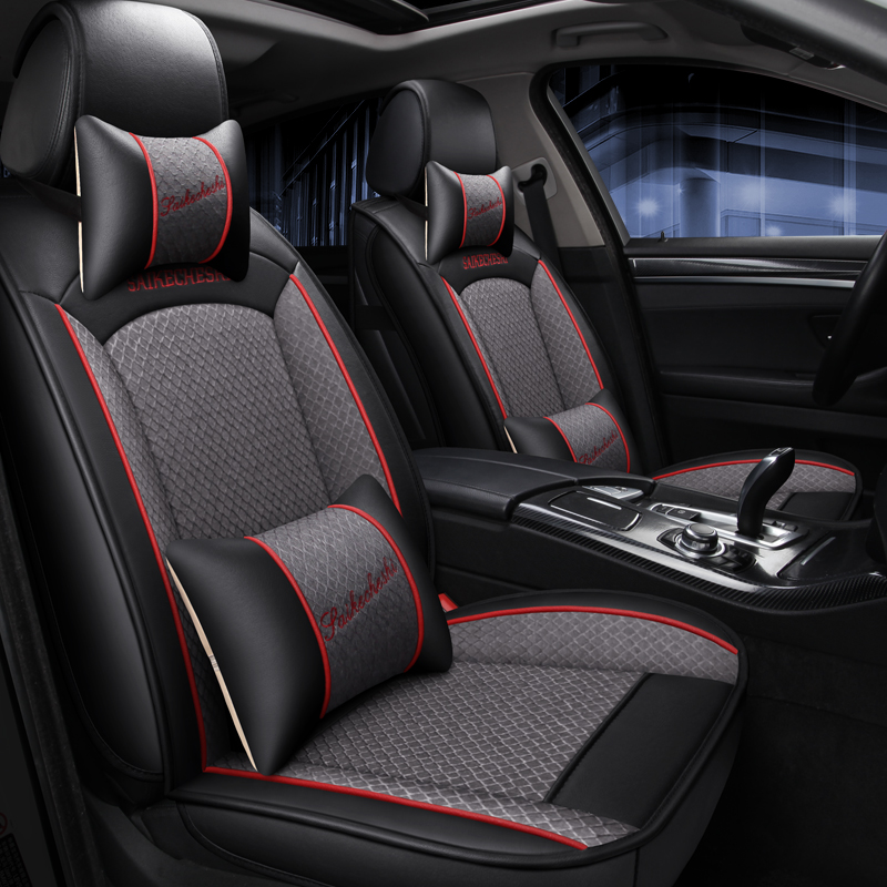 Universal leather linen car seat cover for Infiniti Q50 FX EX JX G M QX50 56 60 70 80 70L Auto Interior Accessories Protector
