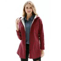 Fall 2017 Fashion Winter Coat Women Hooded Shirts Casual Long Sleeve Loose Womens Coats With Hat