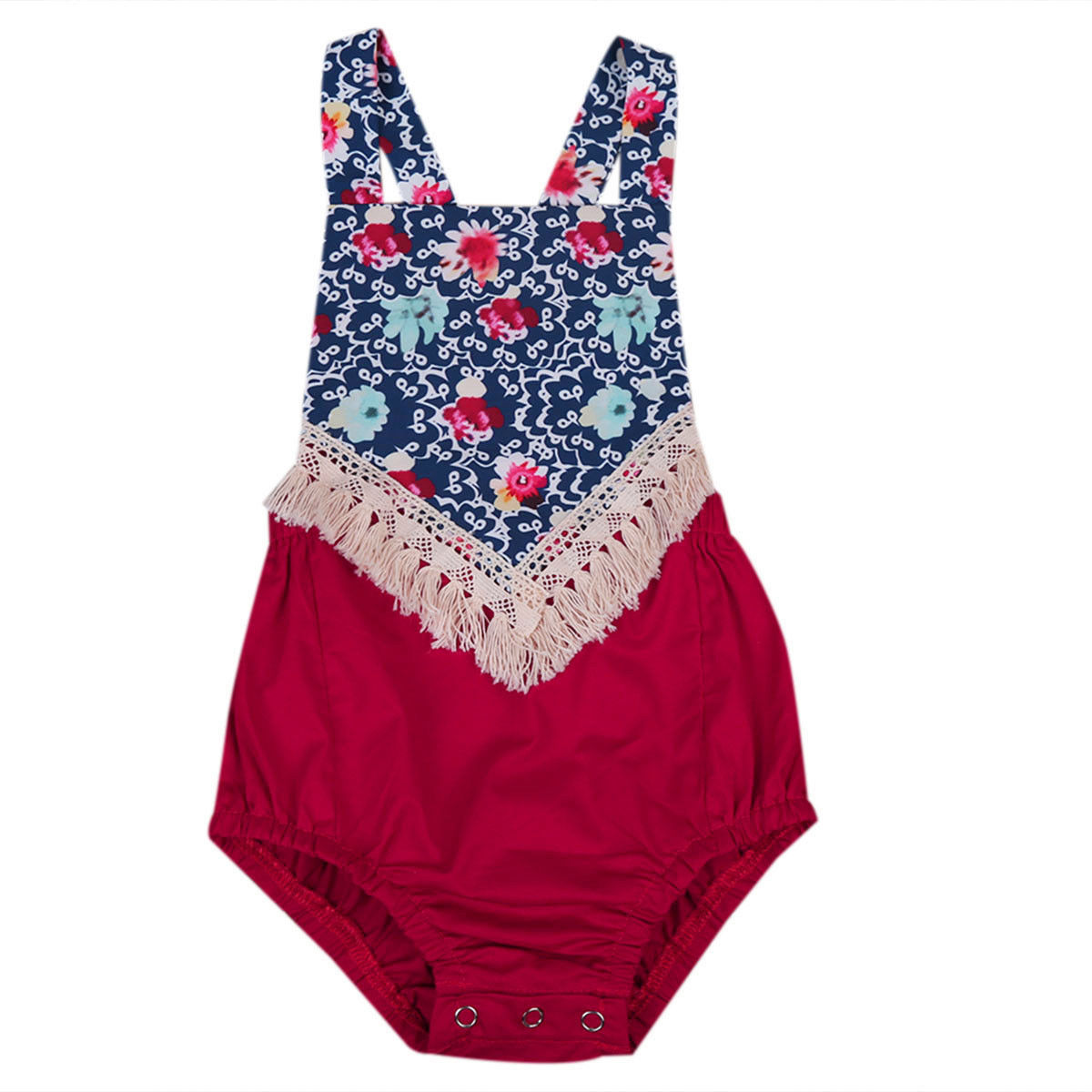 Boho Newborn Infant Baby Girls Clothes Floral Sleeveless Romper Jumpsuit Clothing Sunsuits Outfits 0-2Y