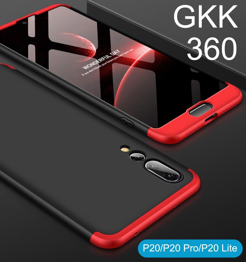 GKK Cas Pour Huawei P20 Pro Lite 360 Pleine Protection Couverture Nova 3e