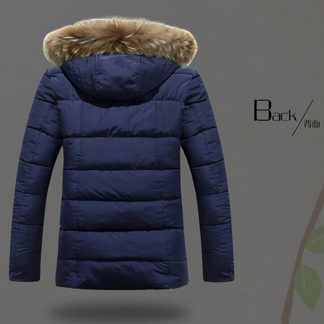 Brand New Jackets Warm Winter Men Cotton Down Jacket Men's Casual Slim Thick Jacket Coat Fashion Style Down Coat Large size XXL