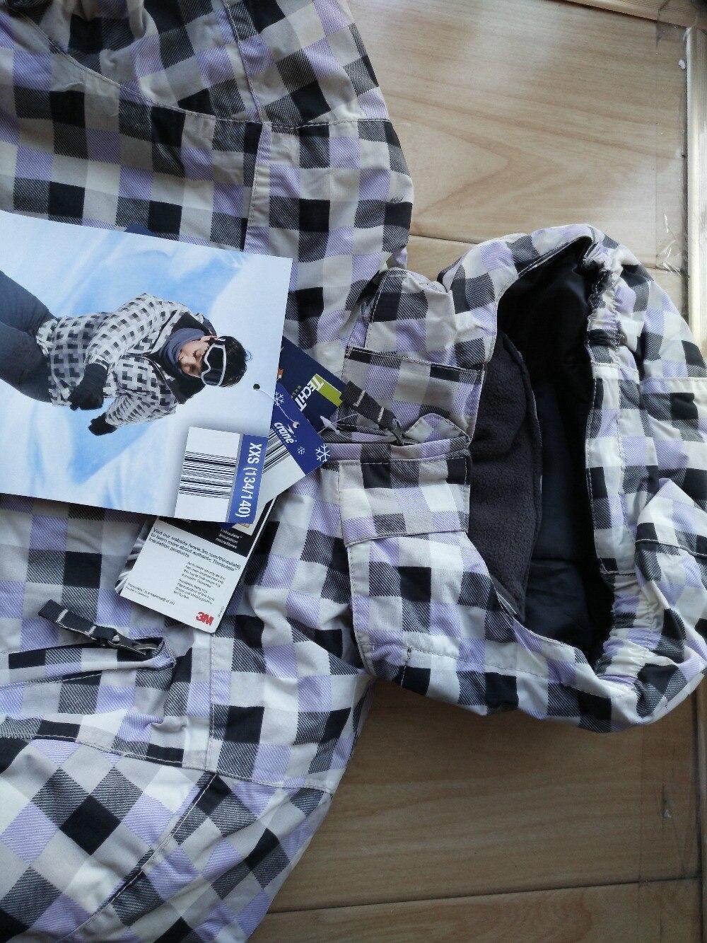 15eae8a61e9b 130cm 170cm Brand Children winter clothing set windproof ski jackets ...