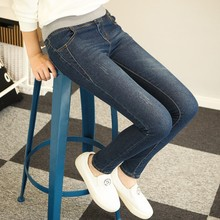 Slim  jeans for women denim pencil pants high waisted jeans Chinese brand quality femme jeans blue color skinny  jeans WICCON