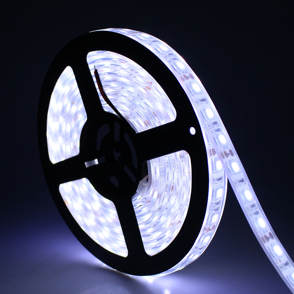 Tanbaby IP67 Waterproof Led Strip Light SMD 5050 flexible roll tape DC12V 5M 300 LED RGB White Outdoor underwater decoration zdm waterproof 72w 200lm 470nm 300 smd 5050 led blue light strip white grey dc 12v 5m
