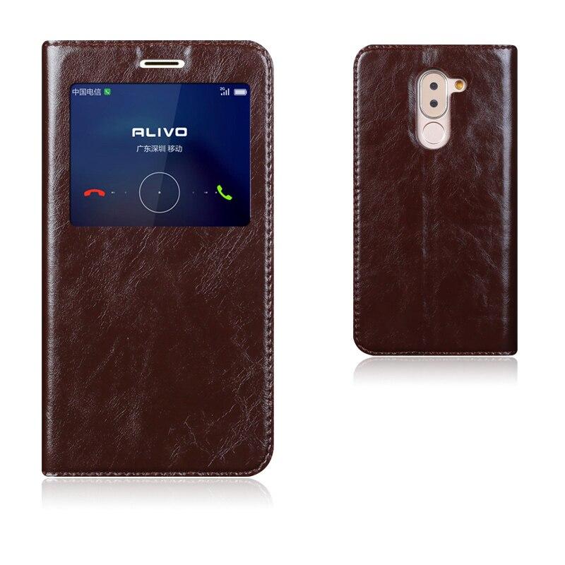 bilder für Top Qualität Echtes Leder Intelligenter Abdeckungs-fall Für Huawei Ehre 6X Luxus Standfuß Handytasche + Freies Geschenk