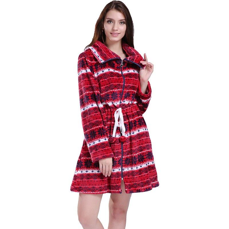 Módní plus velikosti korálový fleecový zip dlouhý vánoční veletrhu svetr zimní teplá dlouhá halenka bunda pro ženy dívky