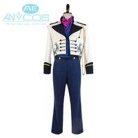 2015 Hot Movie Elsa Hoàng Tử Hans Cosplay Trang Phục Phù Hợp Với Coat Adult Men Tuxedo Phong Cách TUX Club Đảng Uniform Cosplay Costume