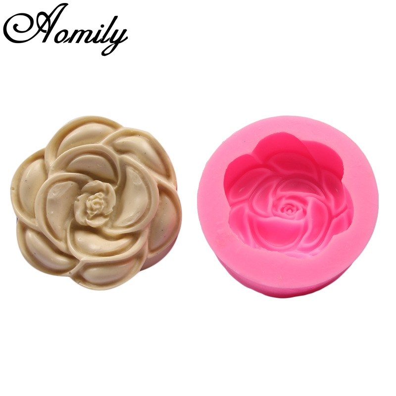 Straightforward Aomily 3d Rose Flower Silicone Chocolate Mould Soap Mold Candle Polymer Clay Molds Crafts Diy Decorating Forms Soap Base Tool Complete Range Of Articles Baking & Pastry Tools Home & Garden