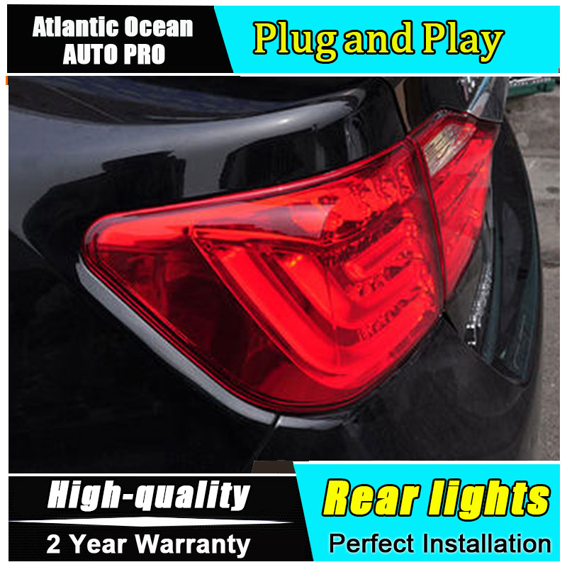 Car Styling LED Tail Lamp for Toyota Camry Taillights 2012-2014 Camry Rear Light DRL+Turn Signal+Brake+Reverse auto Accessories new car styling led rear lights kit modification for toyota camry 7th 2012 2013 2014 turning light high quality free shipping