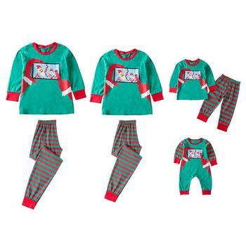 Moda Familia Navidad Pijama Familia Ropa A Juego Madre Hija Ropa