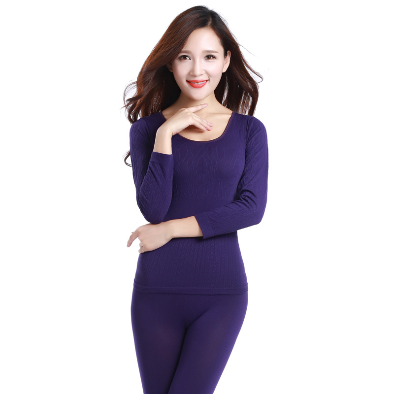 Women Warm Winter Suits  Thermal Underwear For Women Le Body Underwear Warm Pajama Sets Autumn Printing Tight Night Sleepwear
