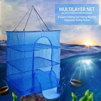 Трехслойная многофункциональная Складная рыболовная сеть, сушильная сеть, сушилка, Складная сетка, подвесная растительная рыболовная сеть