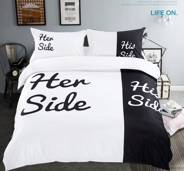 set ip noir coordinating bedding in mainstays bed bag white black classic and walmart com a