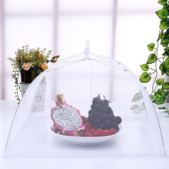 Cubierta antimosquitos para polvo de alimentos accesorios de cocina removibles y lavables cubierta de polvo de malla para Picnics al aire libre