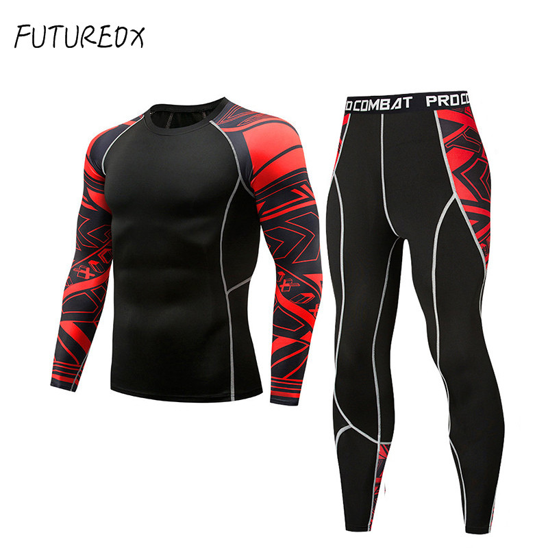 Men And Women Suits Thermal Underwear Fitness Sportswear Exercise Compression Tights Sportswear Men And Women Sportswear Suits