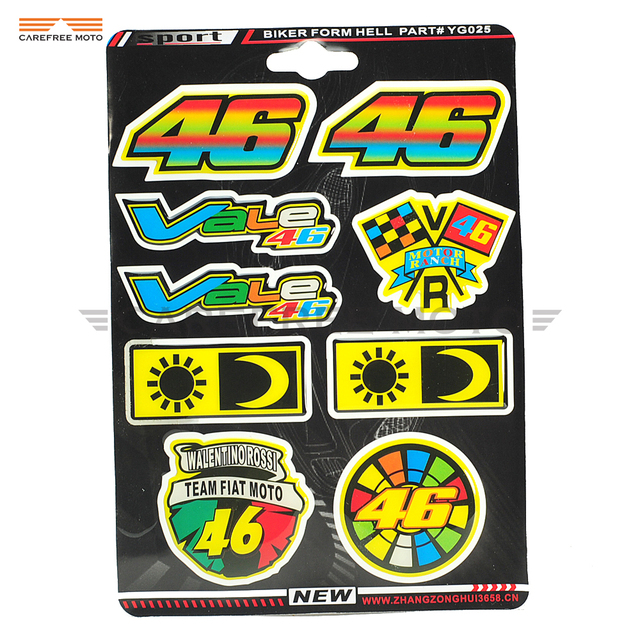Motorcycle Decal Sticker Rossi 46 Stickers Helmet Decoration Symbol