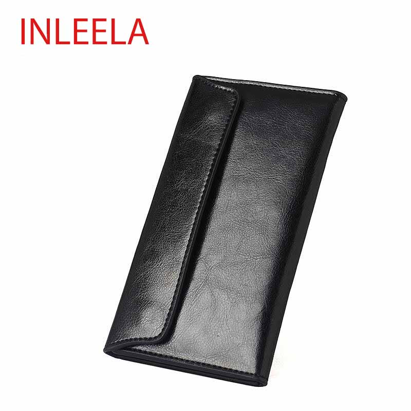Inleela Korean Style New Women Long Wallet Soft Leather