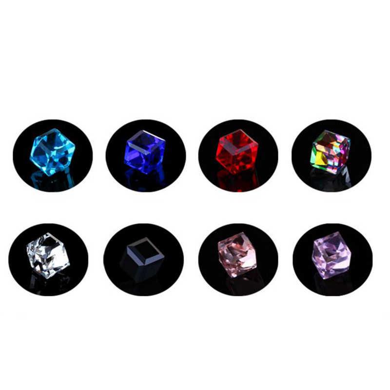 Brincos de cristal magnético cubo de água saúde ímã de cristal colorido brincos não perfurados para jóias femininas oorbellen