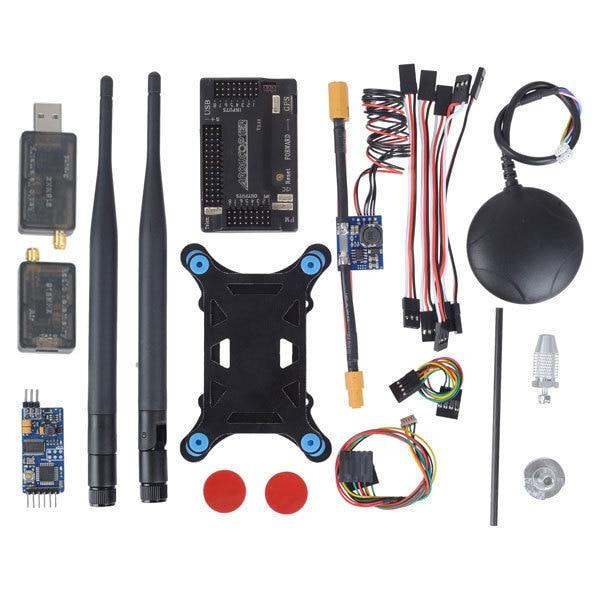 Apm2.6 ArduPilot UAV contrôleur de vol APM 2.6 + 6 M GPS w / Compass + Module de puissance + 915 Mhz 3DR Radio télémétrie