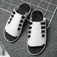 New Trend Men Indoor Slippers Top Quality Mens Slides Shoes Brand Designer Water Slippers Men Comfortable Soft Sole Slippers Men