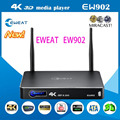 Android TV Box Eweat EW902 1GB / 8GB 3D 4K Network HDD Media Player HDMI in & Out USB3.0 DTS-HD Kodi Ethernet H.265 3D BDMV/ ISO