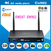 Android TV Box Eweat EW902 1 GB/8 GB 3D 4 Karat Netzwerk HDD Media Player HDMI in & Out USB3.0 DTS-HD Kodi Ethernet 3D H.265 BDMV/ISO(China (Mainland))