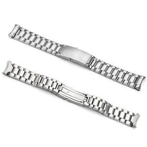 Image 2 - Istarp 20 Mm Horloge Band Solid Roestvrij Staal Zilveren Horloge Band Voor Omega Seamaster Planet Ocean Stalen Armband 1589/858