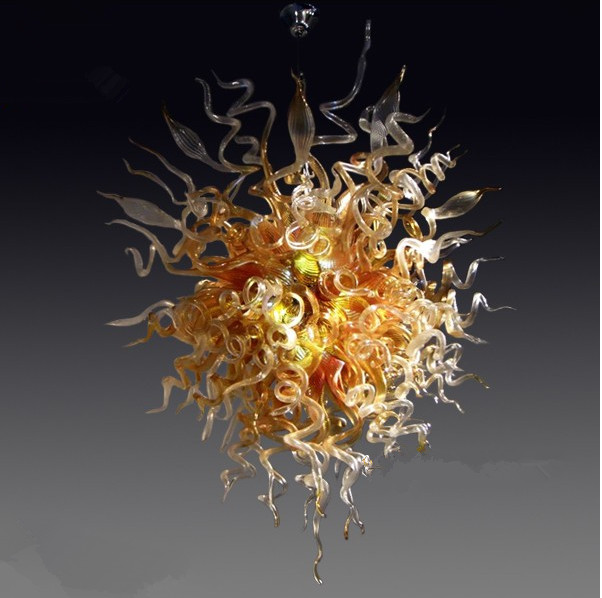 Us 630 0 30 Off Living Room Amber Color N Gl Art Fancy Chinese Pendant Lights Chihuly Style In Ceiling From Lighting On