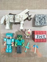 Original Minecraft action figure Diamond armor Steve Alex Pig Zombie Cat Cow Ocelot Enderman Witch toy(China)