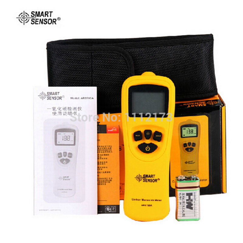 With BOX New carbon monoxide gas analyzer 0-1000ppm CO concentration analyzer combustible gas detector detector tester ...