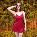 Noirtease autumn and winter female sexy spaghetti strap nightgown sleepwear lounge basic skirt slip nightgown sleepwear female
