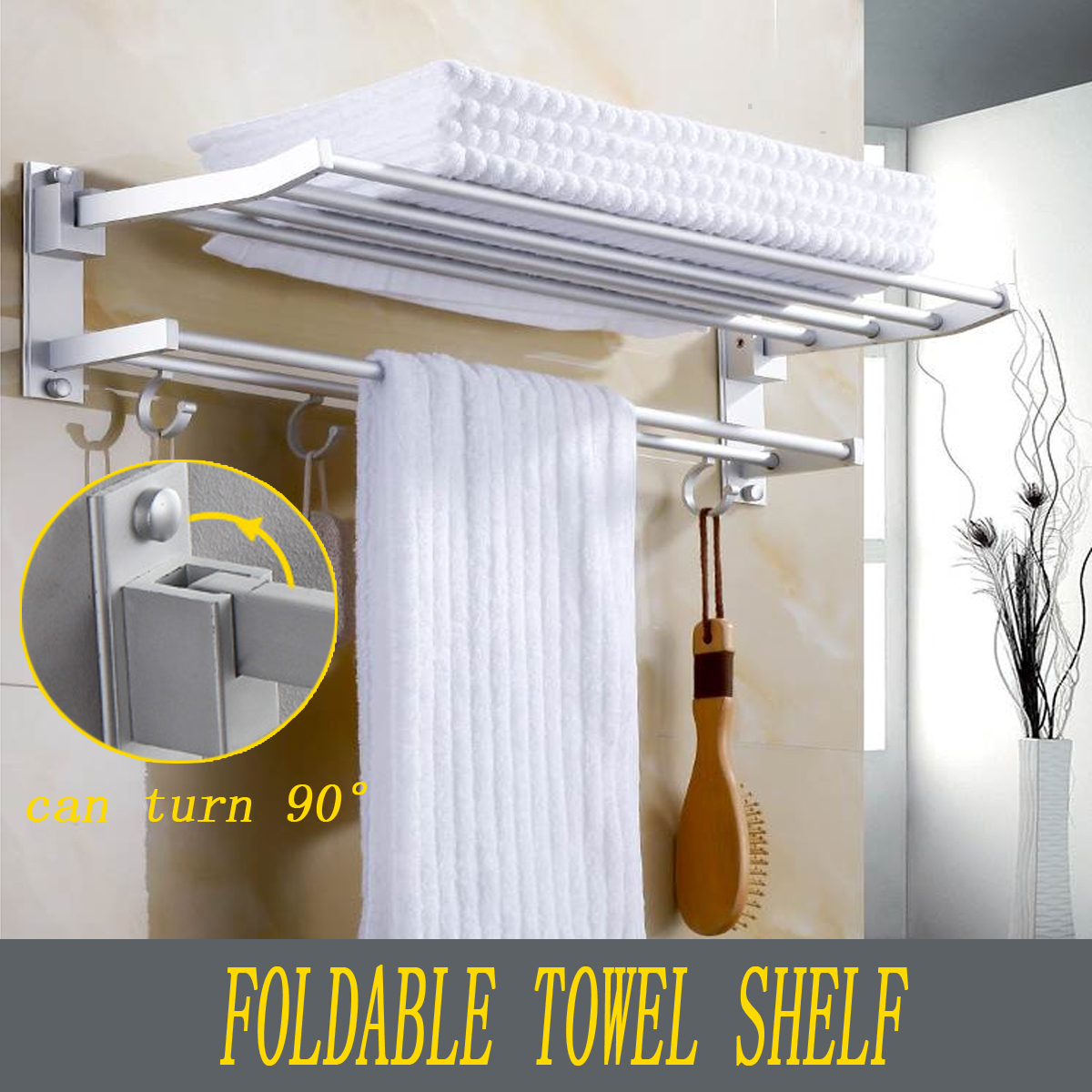 Xueqin Bathroom Towel Racks Double Towel Rack Wall Mounted