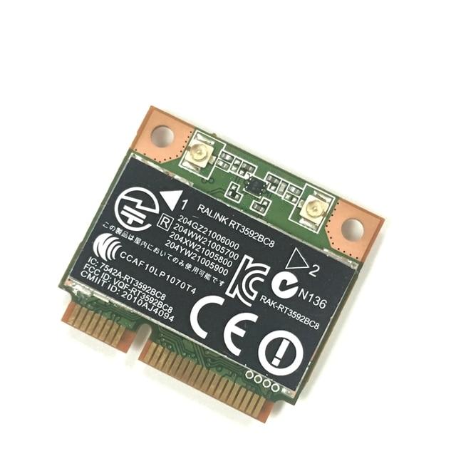 US $8 99 |RALINK Rt3592 rt3592bc8 Dual band 300Mbps Wifi half Mini PCI E  Wireless N Card SPS: 630813 001 For hp 4230s 4430s 4530s 4730s-in Network
