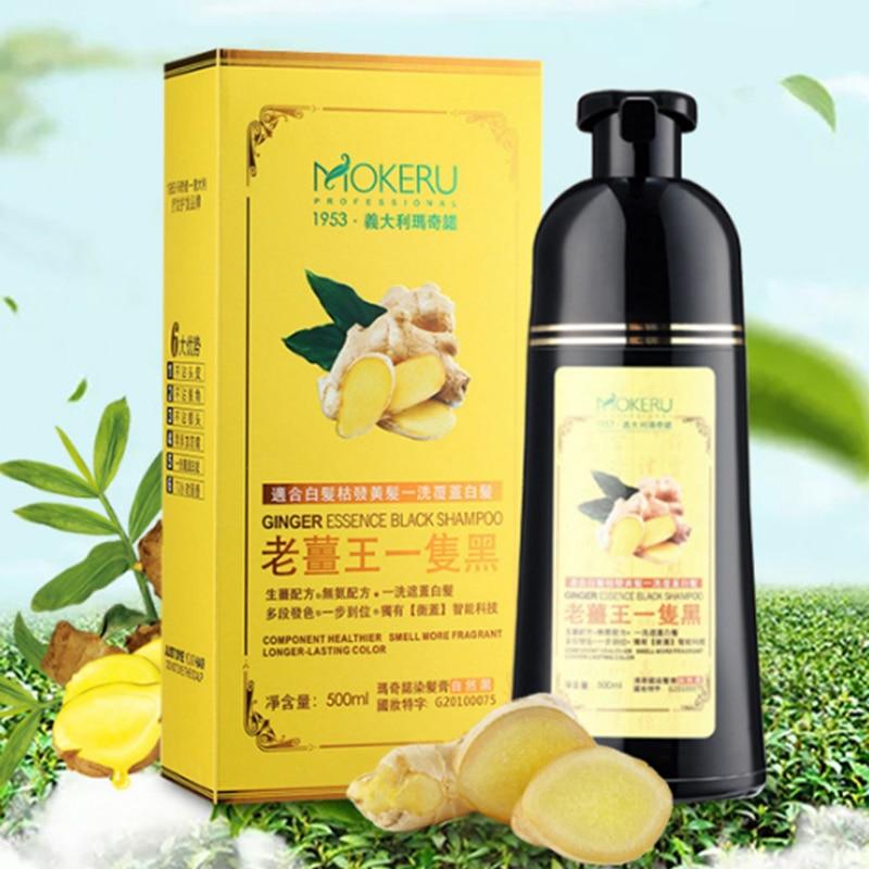 Mokeru Natural Ginger 5 Minutes Fast Hair Dye Shampoo Organic Hair Dye Permanent Black Shampoo For Women Hair Coloring Cream 3