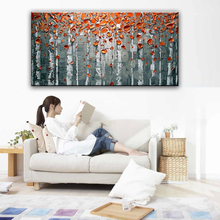 100% hand painted oil painting Home decoration high quality landscape knife painting pictures
