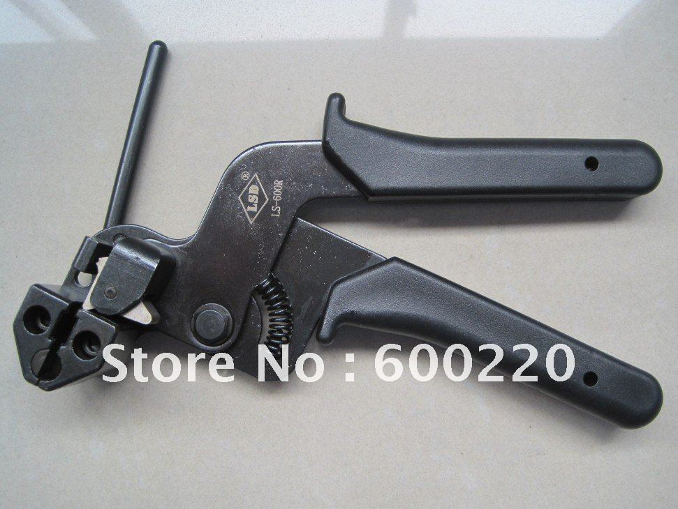 ФОТО cable tie fasten tensioning tool for stainless steel LS-600R