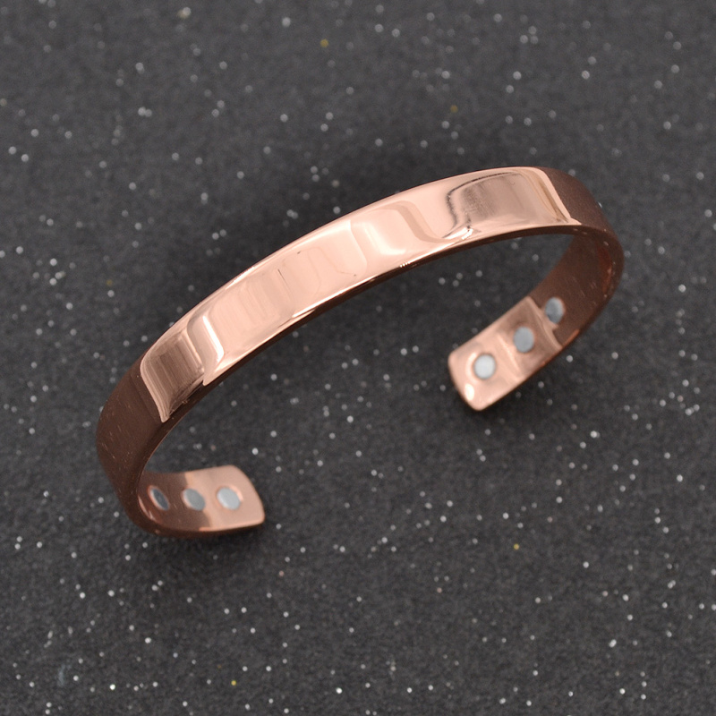Pure Copper Magnetic Bracelet Arthritis Therapy Energy Pain Relief Cuff Bangle