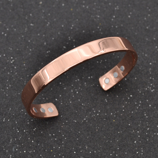 Fashion Lychee Magnetic Copper Bangle Bracelet Healing Bio Therapy Arthritis Pain Relief Cuff Women Men