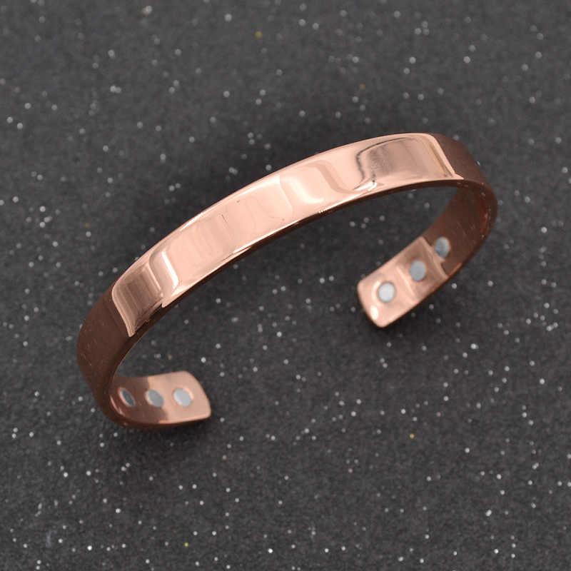 d65b70ca2fe fashion lychee Magnetic Copper Bangle Bracelet Healing Bio Therapy  Arthritis Pain Relief Cuff Bangle Women Men
