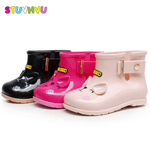 Children rain boots boys girls baby rainboots non-slip jelly princess waterproof student cartoon kids water shoes