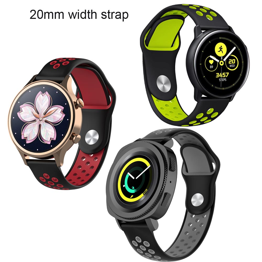 20mm Bracelet Band For Xiaomi Huami Amazfit Bip Leather Watchband Amazfit GTR 42mm Silicone Wristband Amazfit GTS Wrist Bands in Smart Accessories from Consumer Electronics