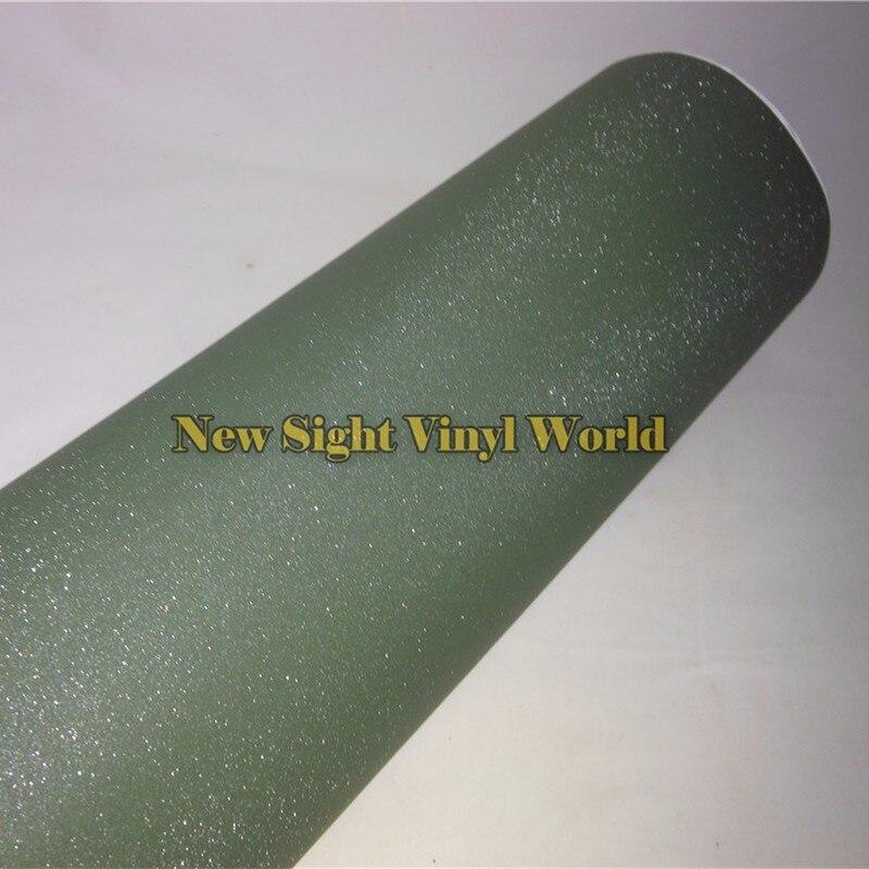 Haute qualité militaire vert paillettes sable étincelle vinyle emballage Folie bulle téléphone autocollant pour ordinateur portable taille: 1.52*30 M