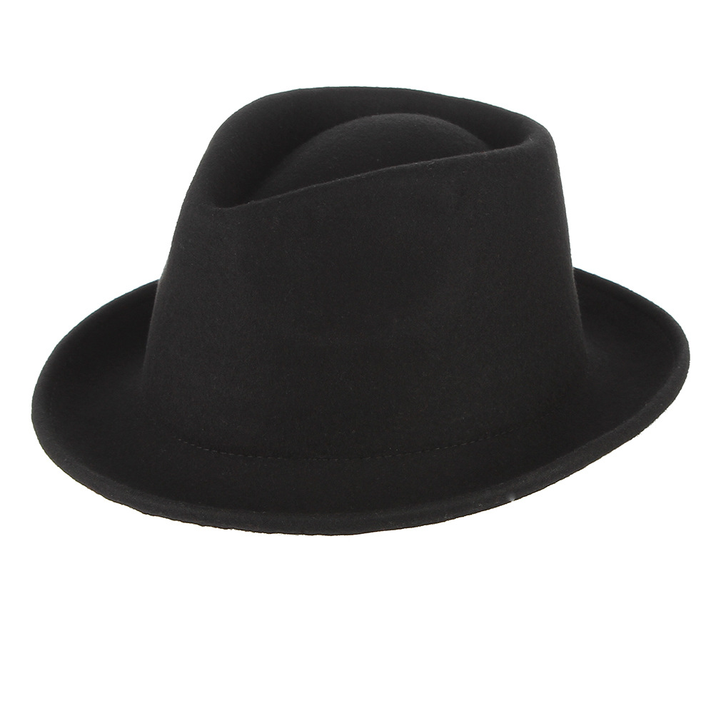 SXBag Mens Jazz Hat Knight Wool Hat England Cap Autumn and Winter Casual Hat Feather Fedora Hat`