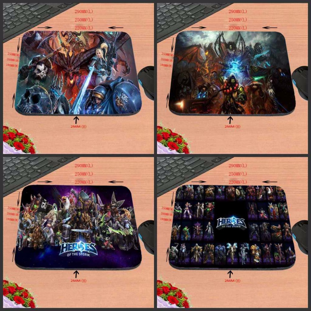 Mairuige Top Selling Heroes Of The Storm Hot Poster Custom High Quality Cloth Rubber Desktop Laptop Comfortable Gaming Mouse pad