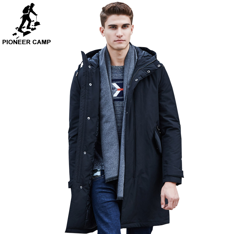 Image 2 - Pioneer Camp long warm winter Jacket men waterproof brand clothing male cotton autumn coat casual quality black down Parkas men-in Parkas from Men's Clothing