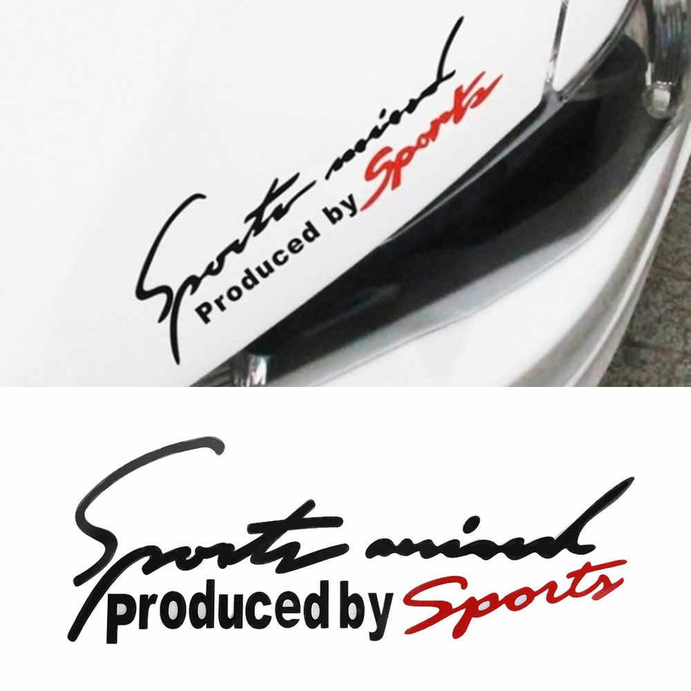 Olahraga Huruf Stiker Mobil Emblem Lencana Decal Auto Mobil Bonnet Stiker Mobil-Styling untuk Audi BMW Mercedes Benz